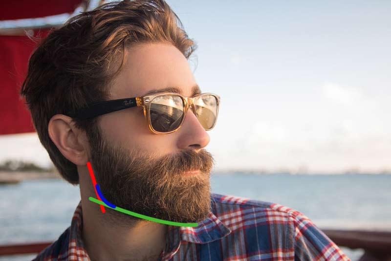 Bart gepflegt rasieren